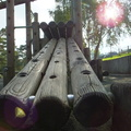 logs-on-the-climbing-frame